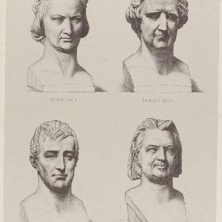 빅토르 위고, 아라고, 라 파이예트, 발자크의 초상화