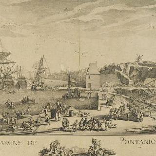 브레스트 항구의 퐁타니우 정박구 건설