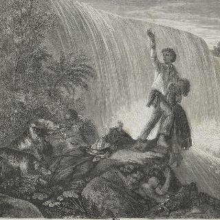 1861년의 살롱 : 도망치는 노예 사냥