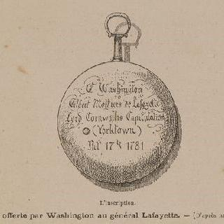 워싱턴이 라 파이예트 장군에게 준 시계