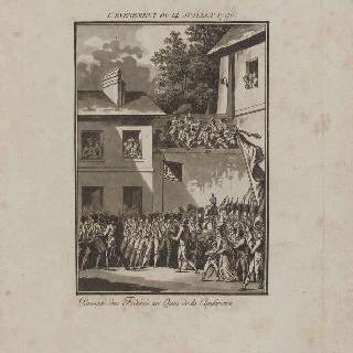 케 드 라 콩페랑스를 지나가는 파리 코뮌 병사들