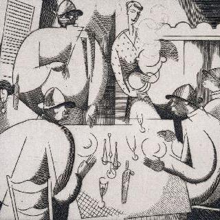 부두 노동자들의 식사