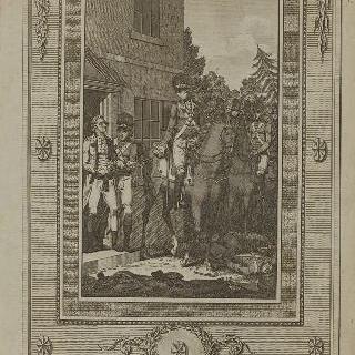 모리스 국 영국군 중령에 의해 체포되는 네어, 뉴 제레시, 1776년