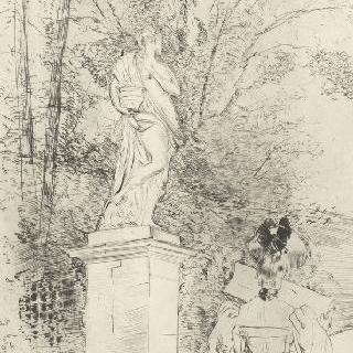 베르사유, 상 (像), 등을 보이며 책을 읽고 있는 여자
