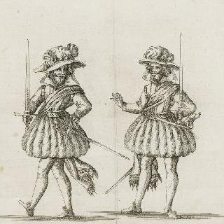 앙리 4세 시절의 복장을 한 두 남자