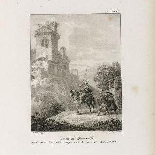 시귀엔자 골짜기 속 고대 성 폐허 근처의 게릴라 파수병