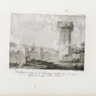 퐁트-뒤에로 통행로를 지키기 위해 탑 꼭대기에 프랑스 군대가 만든 통나무집