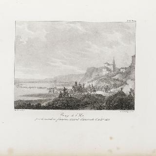 1808년 12월 30일, 베나방트 앞의 엘자 지역을 통과하는 프랑스 기병대