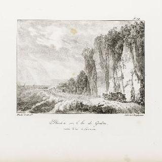 제네바 호수 위의 돌산