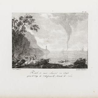1795년, 니스 백작령, 빌프랑슈 곶 근처에서 관측된 바다 회오리