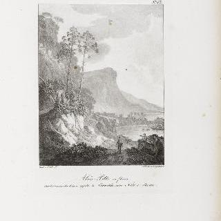 니스와 사본 사이의 코니스길이라고 불리는 길 바위 위에서 꽃이 핀 알로에 피트