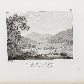 제노바 동쪽 만의 타지아 다리 전경