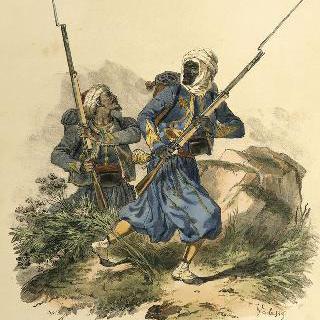 원주민 저격병들 (알제리), 1연대, 1854-1870