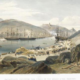1855년의 발라클라바 항구와 부두 상태