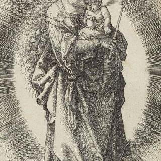 별관을 쓰고 왕홀을 든 초생달 위의 성모