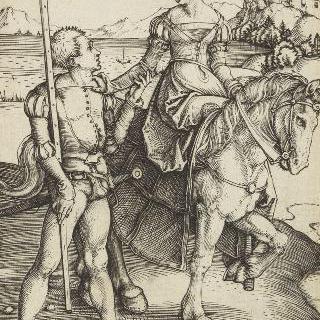 말을 탄 귀부인과 용병