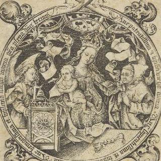시계 성모, 일명 천사와 수도사와 함께 있는 아기 예수를 안고 있는 성모