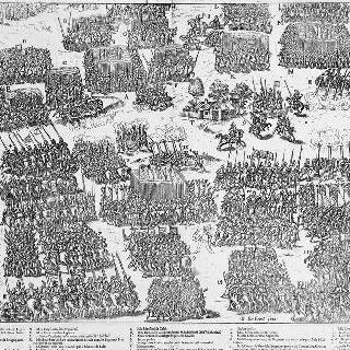몽콩투르 근처의 두 군대의 배치, 1569년 10월 3일