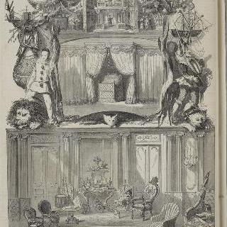 튈르리 궁의 황실 왕자 거실과 신년 선물로 왕자가 받은 장난감들