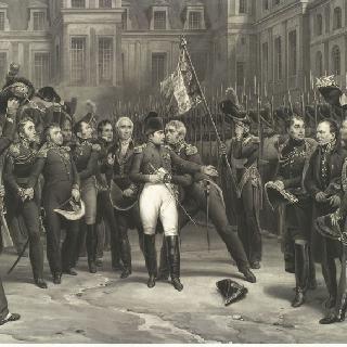 퐁텐블로에서 작별 인사를 하는 나폴레옹