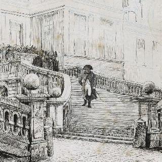 기마식 철계단을 내려오는 나폴레옹