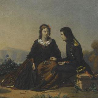르 콜롱비에 양과 대화하는 보나파르트