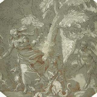 파올로 베로네즈 풍의 달아나는 님프