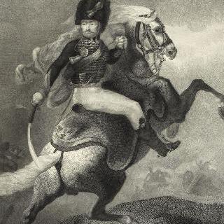 테오도르 제리코 풍의 말을 탄 엽기병 장교