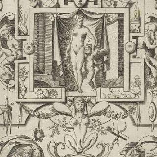 신들에 대한 생동감 있는 열 다섯 장식판 : 전체 요소