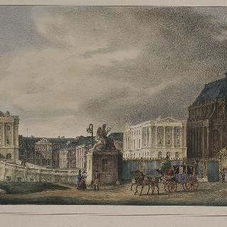 1828년 군사 광장에서 본 베르사유 성 전경