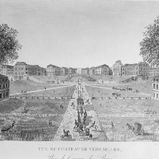19세기 파리 대로에서 본 베르사유 성 전경