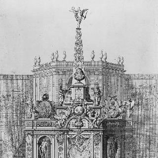 1682년, 부르고뉴 공작이 탄생했을 때, 마귀들을 쫓기 위하여 거행된 불꽃놀이