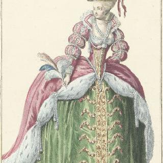 루이 16세 통치하의 왕비주최 무도회용 궁정 귀부인 의상