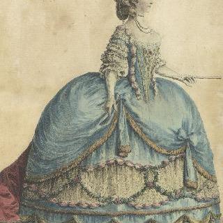 궁정복장을 한 마리-테레즈 드 사부아 (1756-1805), 아르투아 백작 부인
