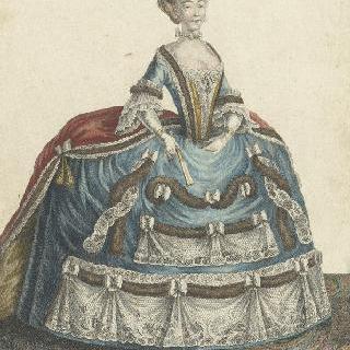 루이 16세 치하의 베르사유의 겨울 궁전 옷