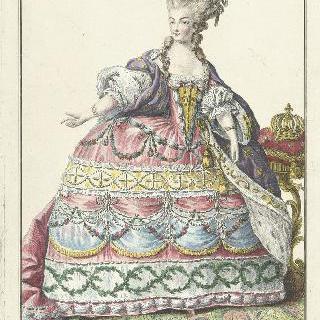 궁정복장을 한 마리 앙투아네트 (1755-1793), 프랑스 왕비