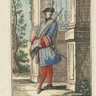 루이 15세 치하 베르사유 성의 정문 수비병