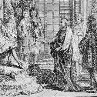베르사유 궁 글라스 회랑에서의 행해진 루이 14세의 접견