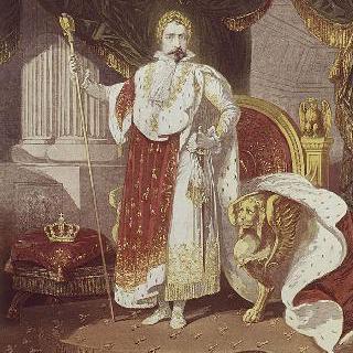 대관식 복장을 한 나폴레옹 3세 (제 1제정의 황실 복장 착용)