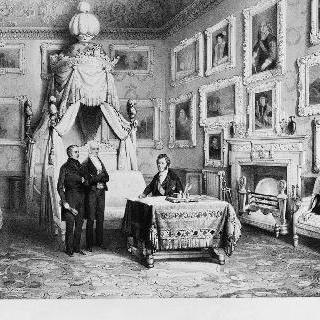 영국 여행 당시 윈저 성 침실의 루이-필립