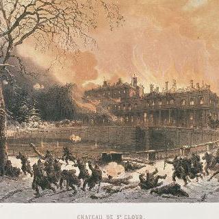 1870년 프러시안 군대에 의한 생-클루 성 화재