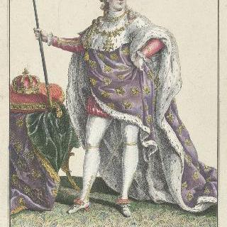 루이 16세 시대 의상 - 신성 의상을 입고 있는 루이 16세 전신 초상