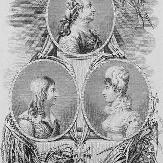 세 원틀 안의 루이 16세, 루이 17세, 앙굴렘 공작부인
