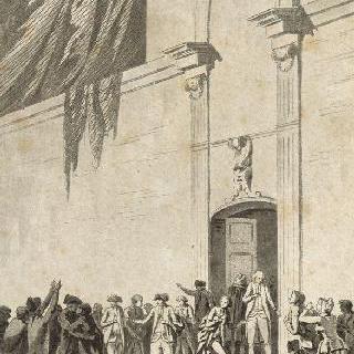 1789년 6월 20일, 베르사유 궁의 줴드폼 선서 : 줴드폼에 들어서는 의원들