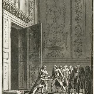 바스티유 감옥 함락 소식을 루이 16세에게 통고