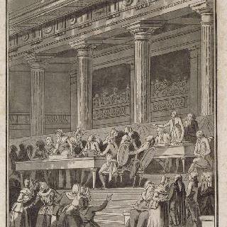 중앙에 의원들이 있는 국민의회를 포위한 베르사유 여자들, 1789년 10월 5일