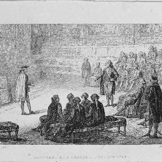 1789년 6월 23일 회의 때의 미라보