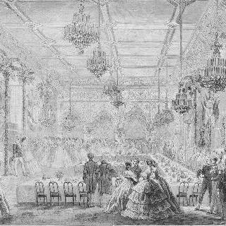 1861년, 프러시아 왕과 왕비를 위해, 마장타 공작인 막-마옹 원수가 베푼 향연