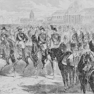 파리 샹 드 마르스에서 나폴레옹 3세의 군대 사열, 1857년의 나폴레옹 왕자