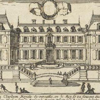 1660-1664 시기의 정원 쪽 베르사유 성 전경